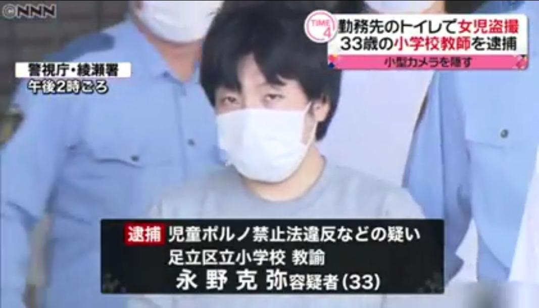 永野克弥先生Facebook顔画像特定!足立区立の小学校はどこ?家族(妻・子供)は?