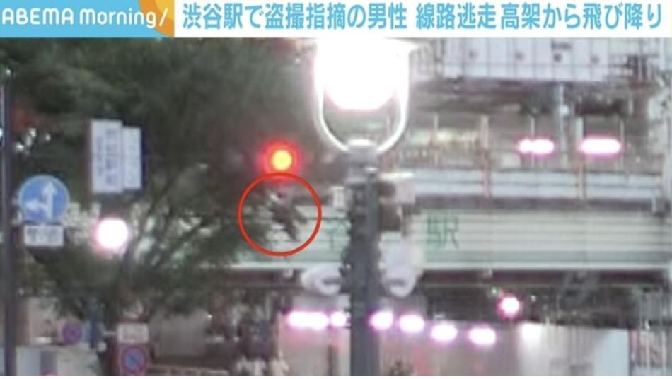 渋谷駅盗撮を指摘され高架から飛び降り男は誰?顔画像Facebookや名前特定か!